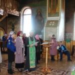 Пение молебна святому преподобному Сергию Радонежскому