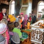 Дети и их руководители из детского лагеря школы №12